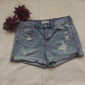 Madewell denim distressed shorts